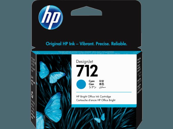 HP 712 29-ml Cyan DesignJet Ink Cartridge