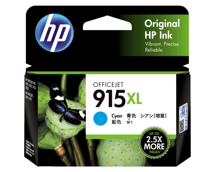 HP 915XL High Yield Cyan Original Ink Cartridge