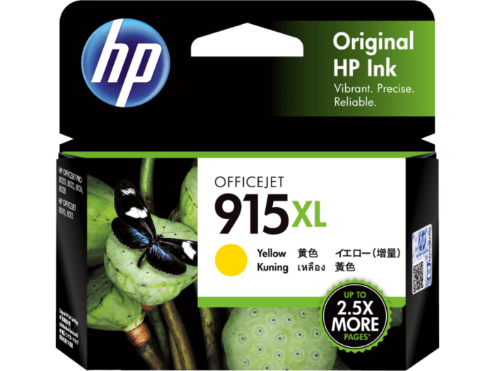 HP 915XL High Yield Yellow Original Ink Cartridge