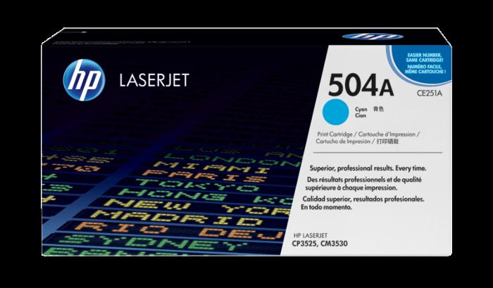 HP 504A Cyan Original LaserJet Toner Cartridge