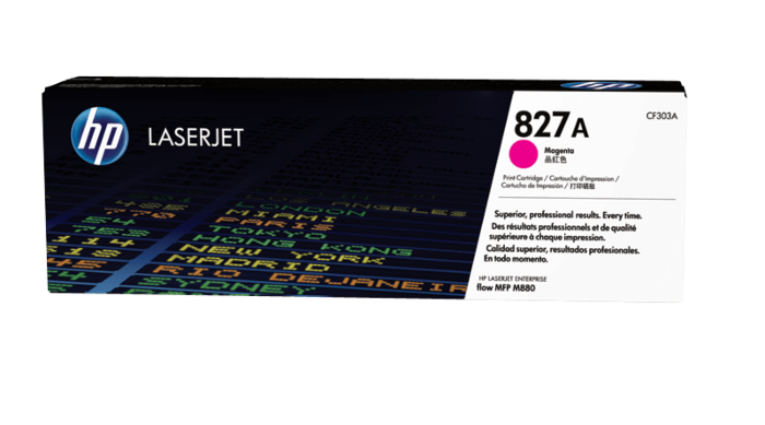 HP 827A Magenta Original LaserJet Toner Cartridge