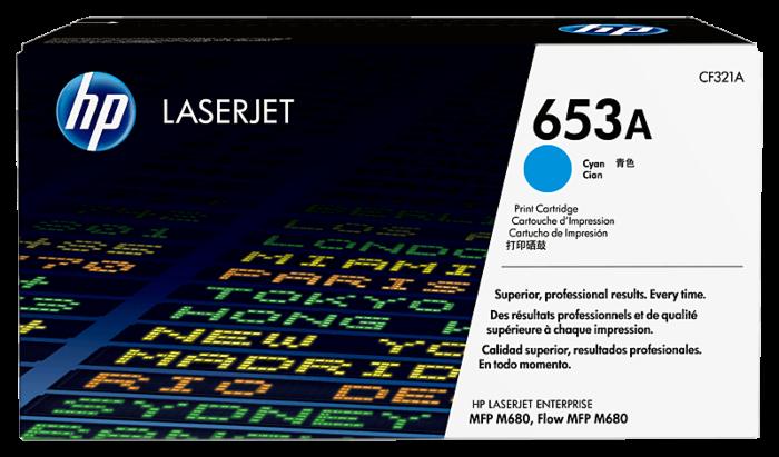 HP 653A Cyan Original LaserJet Toner Cartridge