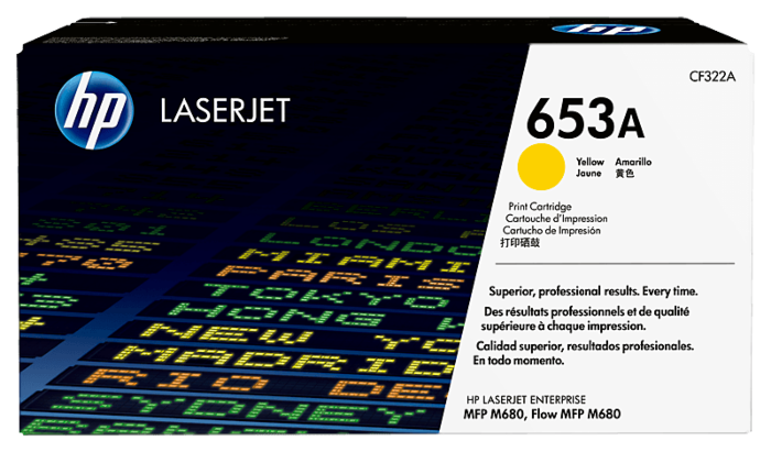 HP 653A Yellow Original LaserJet Toner Cartridge