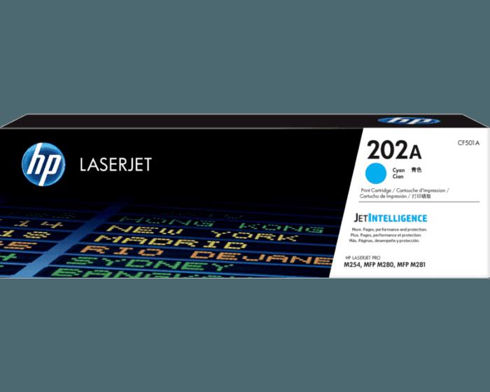 HP 202A Cyan Original LaserJet Toner Cartridge