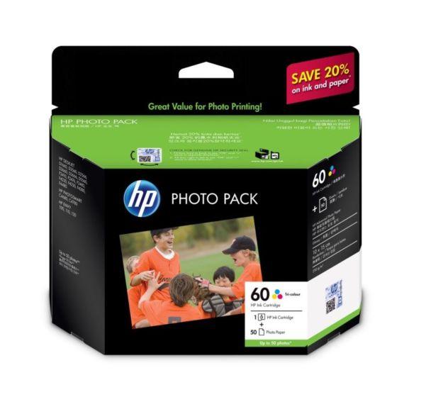 HP 60 Photo Value Pack-50 sht/10 x 15 cm