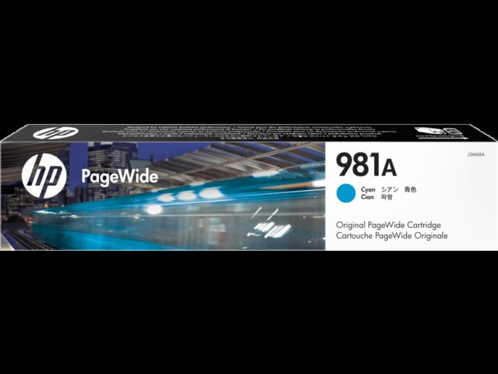 HP 981A Cyan Original PageWide Cartridge