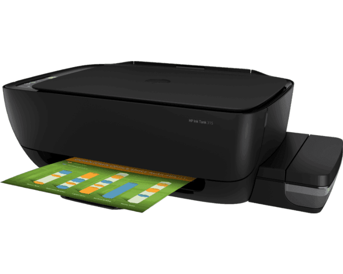 HP Ink Tank 315 All-in-One Printer Print, copy, scan