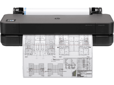 HP DesignJet T250 24-inch Compact Large Format Plotter Printer (up to A1 size) with Mobile Printing
